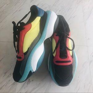 Puma colorblock mesh platform sneakers